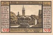 50 Pfennig (Goethe Series - Issue 6) – reverse