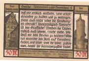 50 Pfennig (Goethe Series - Issue 4) – reverse