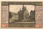 75 Pfennig (Goethe Series - Issue 8) – reverse