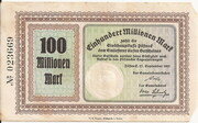 100,000,000 Mark – obverse