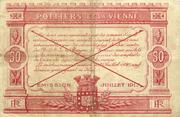 50 centimes - Chambre de Commerce de Poitiers et de la Vienne – reverse