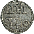 1 Denier - Charles II le Chauve (Melle) – reverse