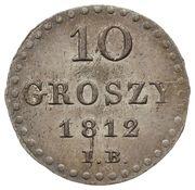10 Groszy - Friedrich August I (I.B.) – reverse