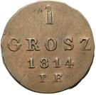 1 Grosz - Friedrich August I (I.B.) – reverse