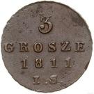 3 Grosze - Friedrich August I (I.S.) – reverse