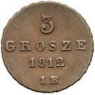 3 Grosze - Friedrich August I (I. B.) – reverse