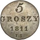 5 Groszy - Friedrich August I (I.S.) – reverse