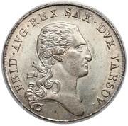 ⅓ Talara - Friedrich August I (I.S.) – obverse