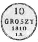 10 Groszy - Friedrich August I (I.S.) – reverse