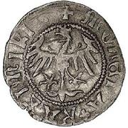 Półgrosz - Kazimierz IV Jagiellończyk (Kraków mint) – obverse
