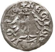 Półgrosz - Władysław II Jagiełło (Kraków mint) – reverse