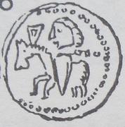Denar - Bolesław II Śmiały (Kraków mint) – reverse