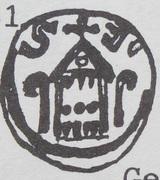 Denar - bishop kujawski Stefan (Włocałwek mint) – reverse
