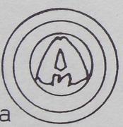 Brakteat - unknown abbot jędrzejowski (Jędrzejów mint) – obverse