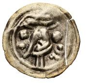Brakteat - abbot wąchocki Gerard (Wąchock mint) – obverse