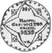 Półrosenobel gdański - Kazimierz IV Jagiellończyk (Gdańsk mint) – reverse