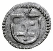 Denar wschowski - Władysław Jagiełło (Wschowa mint) – reverse
