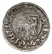 Szeląg pruski - Kazimierz IV Jagiellończyk (Toruń mint) – obverse