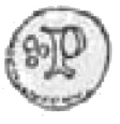 Denar poznański - Ludwik Węgierski (Poznań mint) – reverse