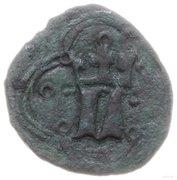 Puło ruskie / denar ruski - Ludwik Węgierski (Lwów mint) – obverse