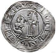 Brakteat protekcyjny - Bolesław III Krzywousty (Kraków mint) – obverse