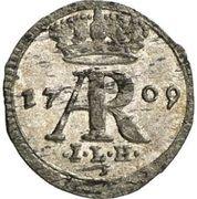 Halerz - August II Mocny (Drezno mint) – obverse
