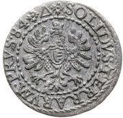 Szeląg pruski - Stefan Batory (Malbork mint) – reverse