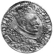 Dukat pruski - Stefan Batory (Malbork mint) -  obverse