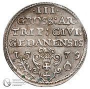 Trojak gdański - Stefan Batory (Gdańsk mint) – reverse