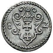 Denar gdański - Stefan Batory (Gdańsk mint) – reverse