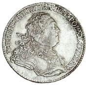 2/3 Talara / Gulden - Fryderyk Christian as Polish Prince (Drezno / Lipsk mint) – obverse