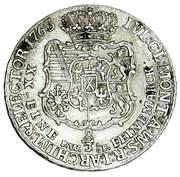 2/3 Talara / Gulden - Fryderyk Christian as Polish Prince (Drezno / Lipsk mint) – reverse