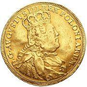Dwudukat koronny - August III Sas (Lipsk mint) – obverse