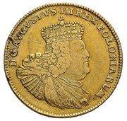 Augustdor koronny - August III Sas (Lipsk mint) – obverse
