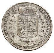 2/3 Talara / Gulden - Ksawery as Polish Prince (Drezno mint) – reverse