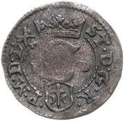 Szeląg koronny - Stefan Batory (Poznań mint) – obverse