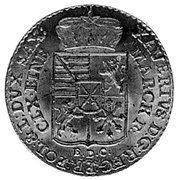 1/12 Talara - Ksawery as Polish Prince (Drezno mint) – obverse