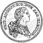 Dwutalar - Ksawery as Polish Prince (Drezno mint) – obverse