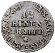 1/12 Talara - Fryderyk Christian as Polish Prince (Drezno / Lipsk mint) – reverse