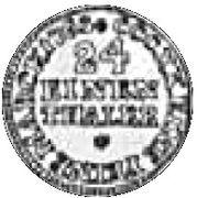 1/24 Talara - Fryderyk Christian as Polish Prince (Drezno / Lipsk mint) – reverse