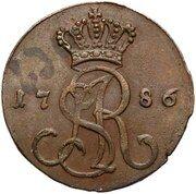 Grosz koronny / Z MIEDZI KRAIOWEY / - Stanisław August Poniatowski (Warszawa mint) – obverse