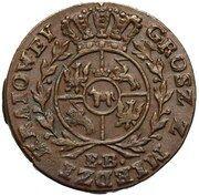 Grosz koronny / Z MIEDZI KRAIOWEY / - Stanisław August Poniatowski (Warszawa mint) – reverse