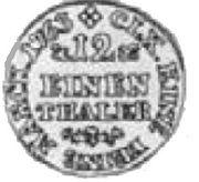 1/12 Talara - Fryderyk Christian as Polish Prince (Drezno mint) – reverse