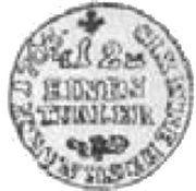 1/12 Talara - Fryderyk Christian as Polish Prince (Lipsk mint) – reverse