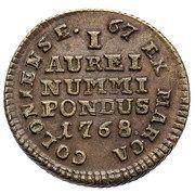 Coin weight - Stanisław August Poniatowski (Ducat) – reverse