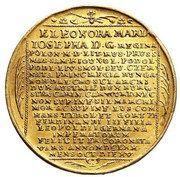 Medal zaślubinowy - Michał Korybut Wiśniowiecki – reverse