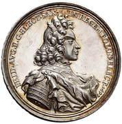Talar - Medal koronacyjny - August II Mocny (Norymberga mint) – obverse
