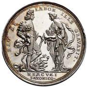 Talar - Medal koronacyjny - August II Mocny (Norymberga mint) – reverse
