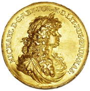 Medal zaślubinowy - Michał Korybut Wiśniowiecki – obverse