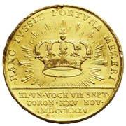 Medal koronacyjny - Stanisław August Poniatowski (Londyn mint) – reverse
